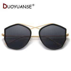 DUOYUANSE NEW 2019 Model Polarized Sunglasses Woman Gradient Lense Metal Frame Drive Sun Glasses Fashion UV400 Glasses 3766