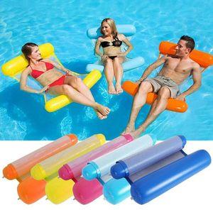 eau d'été flottant salons Matelas hamacs filet de lit d'eau gonflables pliants piscine d'eau paresseuse chaise flottante pondent des tapis de matelas