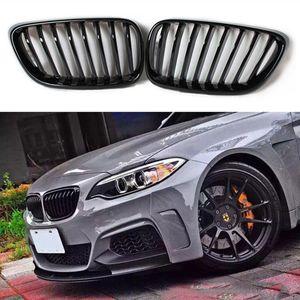 Para b m w rim F22 F23 Grade dianteira ABS Fit F22 2014 2015 2016 A fibra de carbono Substitua grelhas originais