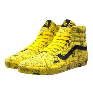 2020 Vault X Арахис Snoopy Старого Skool Sk8-Привет Мужских дизайнерского Спорт Скейт обуви кроссовки Мужчины Женщина Холст Повседневный Скейтборд Кроссовки