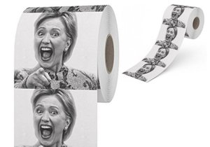 Wholesale- Hillary Clinton Toilet Paper Creative Hot Selling Tissue Funny Gag Joke Gift 10 pcs per set