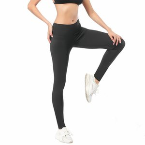 Lu-3 Large Size Foreign Trade Yoga Pants Womens High Elastic Abdomen Hip Pants Running Fitness Sports Pants