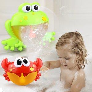 Divertente Musica Crab Bubble Blower macchina elettrica automatica Crab Bubble Maker bambini giocattoli da bagno esterna Bagno giocattoli dei regali di Natale