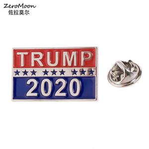 Élection présidentielle 2020 Trump épinglette émail Election US républicain Broche Métal Bijoux unisexe accessoire de mode