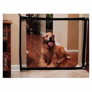 Portão Dog Magia Mesh Pet cerca de barreira Folding guarda segura interior de separação ao ar livre do cão filhote de cachorro proteger o abastecimento de Gabinete do animal de estimação