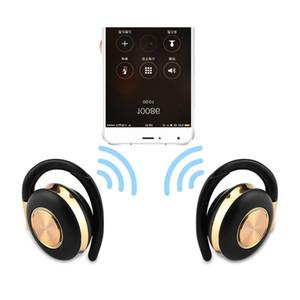 V5 Bluetooth 5.0 écouteurs écouteurs sans fil Musique Casque IPX4 Sweatproof Casque avec micro double crochets auriculaires