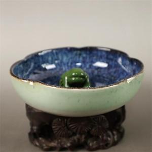 Ciotola cinese del cambiamento della porcellana della porcellana bianca e fragile delicata