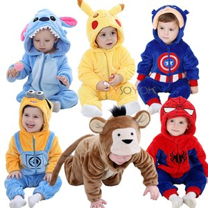 A roupa do bebê rompers da menina do menino recém-nascido inverno traje do bebê macacões infantil onesies stich pijama Roupas de bebe recem Nascido LY191205