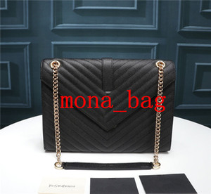Luxury Fashion Big Flap Borse borse delle donne famose marche Crossbody Designer Borse Caviar Donne Borse Tracolle Catene Ladies Handbags