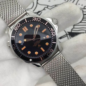 2020 Diver 300M 007 Edição Mens Relógios Sea Master Black Planeta 600m Co axial mecânicos automáticos Movimento Aço Cinta Esportes Relógios de pulso