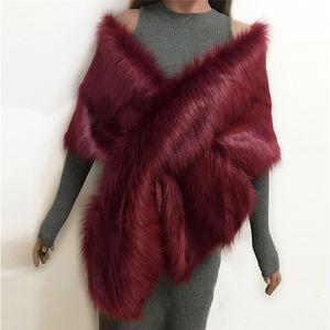 Lanshifei neuen Stil hochwertiger Schal Kunstpelz Schal infinity Schal Nachahmung Kaninchenpelzumhang Y18102010