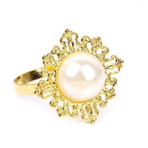 ALL'INGROSSO 100pcs Gold Diamond gemma vintage portatovagliolo tovagliolo Holder festa nuziale della mestiere nuovo ciclo dell'anello del metallo Set di Rhinestone1