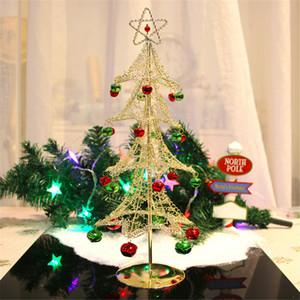 navidad 2019 Fashion Mini Desktop Iron Christmas Tree Home Office Decoration Xmas Ornaments Creative Gift New year decoration