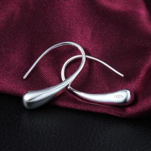 Pendientes de moda al por mayor earing de plata / cristal / 925 cuelga los pendientes hermosa pendientes de moda