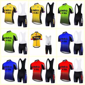 Jumbo equipo Visma ciclismo manga corta Jersey (BIB) cortos de bicicleta MTB establecen SOBYCLE Ropa para hombre Ciclismo Profesional de Verano ciclismo Maillot desgaste B613-6