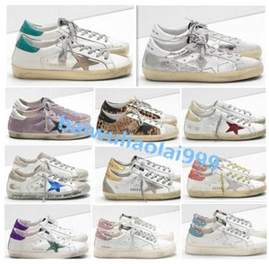 Italy Old Style Fashion Multicolor Superstar Genuine Leather Sneakers Men Women Classic White Do-old Dirty Shoes Casual Shoes Size 35-45