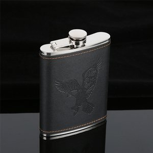 5 6 7oz Flasks Hot Sale Portable Stainless Steel Hip Flask Travel Whiskey Alcohol Liquor Bottle Flagon Male Small Mini Bottle