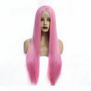 Wholesale Price Top Quality Long Straight Color Wigs Soft Synthetic Lace Front Wigs for Black Women