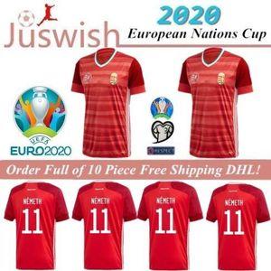 2020 Jersey Europe de football Hongrie 19/20 Accueil Rouge Dominik Szoboszlai Willi Orban Tamás Kádár Football Shirt Uniforme National Teamfootball