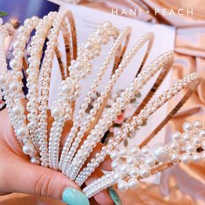 Yeni Moda inci kızlar Saç kadınlar için tatlı çocuklar tasarımcı saç bandı tasarımcı saç aksesuarları Sticks tasarımcı kafa bantları saç bandı A5094