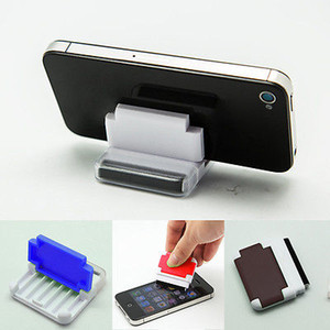 Creative Mobile Téléphone Seat écran Wipe Erasing Nouveau Cadeaux spéciaux Fonction Promotion Cadeaux Téléphone écran Nettoyage Rub outil Pinceau