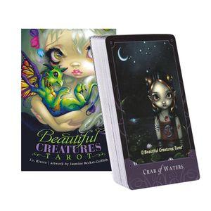 80pcs Beautiful Creatures Tarot-Karten Deck Spiele Oracle-Party-Spielkarte Englisch Tarot Tabelle Brettspiel