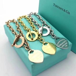 perlas clásico de lujo de Nueva pulseras del encanto para las mujeres la letra del corazón colgante brazalete del encanto como regalo de DIY de boda joyería y accesorios