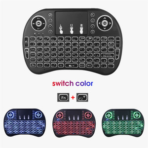 Cheap Keyboards Kebidumei i8 Mini Wireless Keyboard 2.4ghz English Russian 3 colour Air Mouse with Touchpad Remote Control Android TV Box