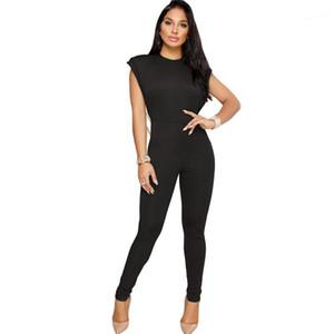 Бусины Комбинезоны Полная длина карандаш брюки Мода Тощий Одежда женская Pure Color выдалбливают Одежда Womens Designer