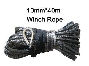 40meters 4x4 / ATV / UTV / SUV / off-road kurtarma için Sentetik Vinç Rope UHMWPE * Fabrika doğrudan satış 10mm