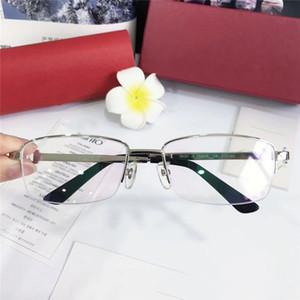 Styliste de lunettes de vue cadre 18k demi-monture de lunettes optiques simple objectif de style commercial transparent et boîte d'origine 5733165