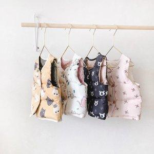 Corea del estilo de invierno nuevo estilo Ropa para niños hombres y de mujeres manera de los niños del estilo occidental yun rong abajo chaleco del algodón de los niños del bebé
