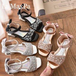 2020 Summer New Fashion Girls Sandals Soft Bottom Princess Shoes Diamond Set Baby Shoes Open Toe Childrens BeachQFAz#