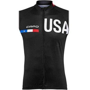 Новый 2019 летний CAPO team Велоспорт без рукавов Джерси жилет горячие мужчины велосипедная одежда спортивная одежда Ropa Майо Ciclismo 304517k