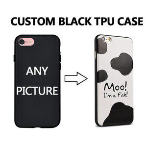Sur mesure Custom Made DIY Picture Photo TPU Noir Téléphone Case Cover pour iPhone Toute conception 11 11Pro 11 Pro max pour iPhone X