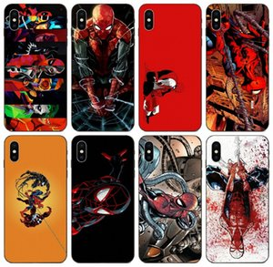 [TongTrade] Человек-паук Marvel Comics Superhero чехол для iPhone 8 7 6s 5s Plus X XS 11 Pro Max Samsung Note 10 Plus Huawei Y7 Y9 LG K4 Case