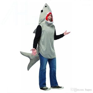Shark Men Mascot Costumes Europe Whale Character Mascot Clothes Christmas Party Fancy Dress Halloween