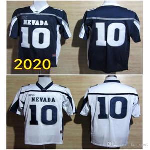 2020 Nevada Wolf Pack Koleji Formalar Erkek Koleji Nevada Wolf Pack 10 Colin Kaepernick Mavi Beyaz Futbol Formalar