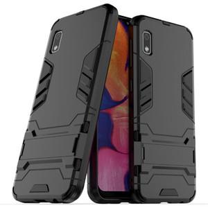 Para el caso de Samsung Galaxy A10E Etiqueta robusto soporte combinado híbrido armadura soporte Impacto cubierta de la pistolera para la galaxia de Samsung A10E