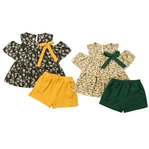 Pudcoco 2019 Toddler Kid Baby Girl Summer Outfits T-shirt Tops+Short Linen Pants Clothes Set Clothing