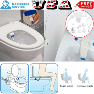In Stock! Bathroom Fresh Water Spray Non-Electric White Kit Attachment Self-Clean Seat Bidet Toilet Free Shipping