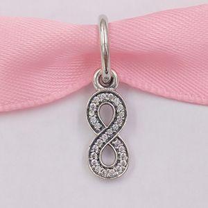 Authentisches 925 Sterlingsilber-Korn-Infinity-Silber baumeln Charme Passt Europäische Pandora Style Schmuck Armbänder Halskette 791351CZ