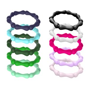 10x Silicone Rings Premium Fashion Forward Stackable Finger Ring