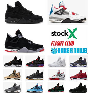 Yeni Jumpman 4 4s Kara Kedi basketbol ayakkabıları erkekler Rush Violet ayakkabı Kutusu ile serin gri beyaz çimento tasarımcısı yetiştirilen mens