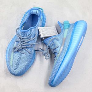 Buz Mavi Kanye West Coconut Gazlı Bez Şeffaf Yeni Gelenler Koşu Ayakkabıları Düşük Tasarımcı Rahat Sneakers Erkek Kadın