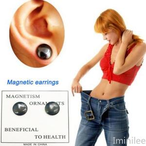 Pendientes adelgaza magnética que adelgaza el remiendo Lose Weight Imanes joyería magnética de la salud de Lazy Pega delgado parche Detox