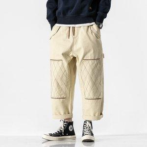 Hommes High Street Hip Hop en vrac Casual Cargo Pant Homme Japon Vintage Fashion Pantalon large Harem Pantalon