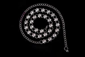 High-grade diamond wild dance belly dance waist chain waist adjustable garment accessories flowers Yaolian
