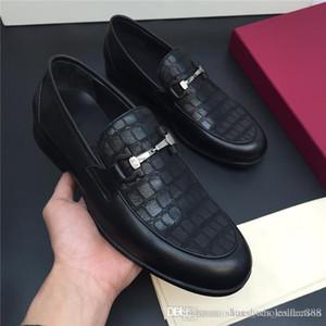 Les dernières chaussures pour hommes en voiture, tissu classique en cuir de veau, hommes semelle extérieure résistant à l'usure et les mocassins Contracted atmosphère à faible talon avec boîte