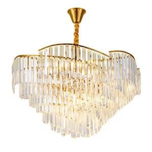 Красивый роскошный дизайн хрустальная лампа современная люстра освещения AC110V 220 В блеск LED столовая люстра фойе огни